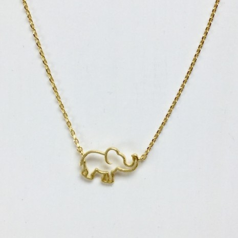Outline Elephant Necklace
