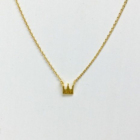 Tiny Crown Necklace