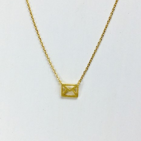 Tiny Envelope Necklace