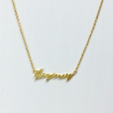 Initial New Jersey Necklace