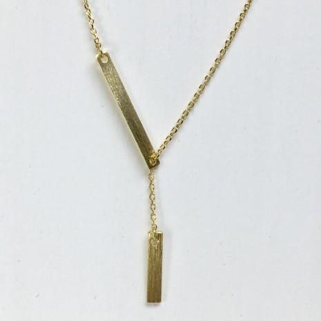 Drop Bar Y Necklace