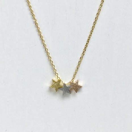 Three Star Necklace