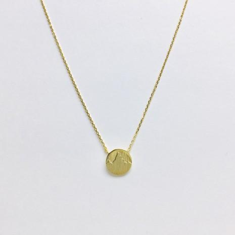Mountain Coin Necklace