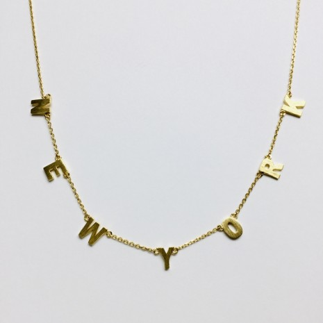 New York Initial Necklace