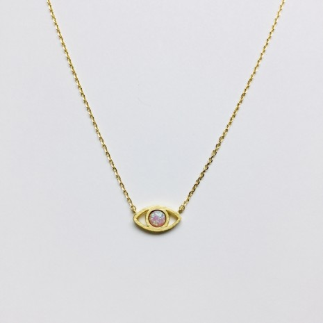 Evil Eye Opal Necklace