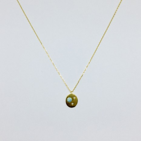 Saturn Opal Necklace