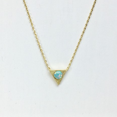 Triangle Pool  Opal Necklace