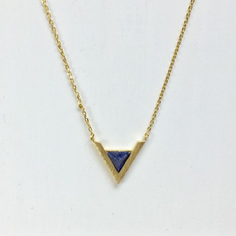Chevron Stone Necklace