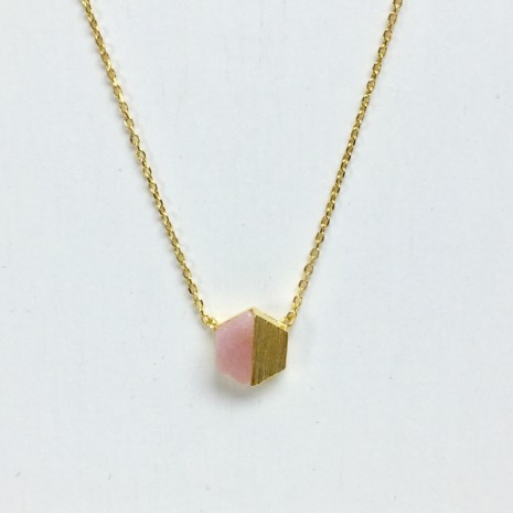 Hexagon Stone Necklace