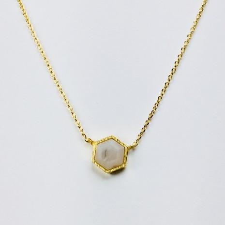 Hexagon Stone Necklace