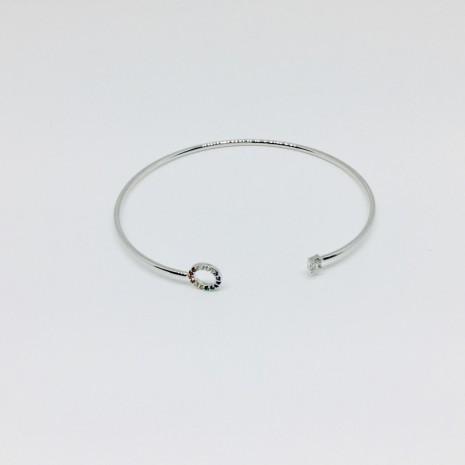 Circle Rainbow Bangle Bracelet