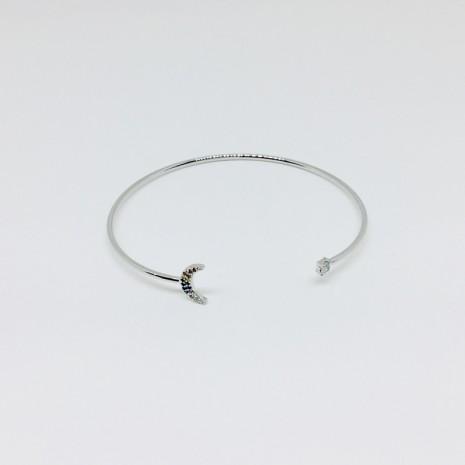 Moon Rainbow Bangle Bracelet