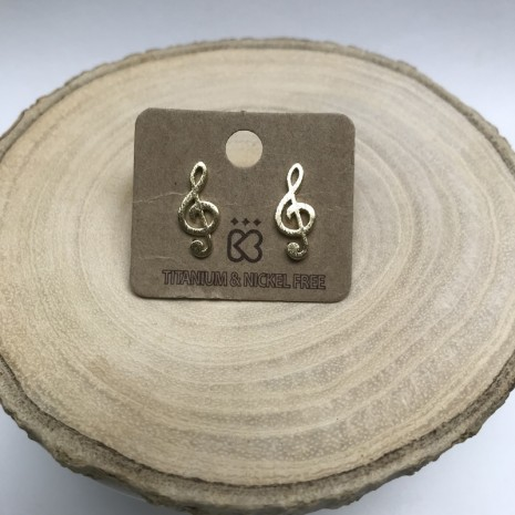 Clef Stud Earrings