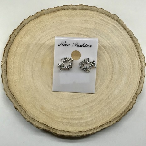 Fish Stone Stud Earrings