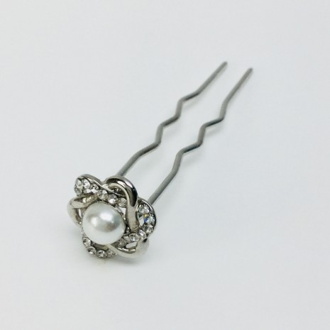 Flower With Pearl Hair Stick(8cm)