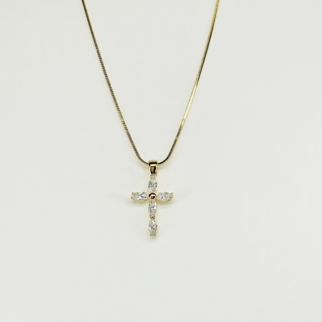 Cubic Cross Necklace