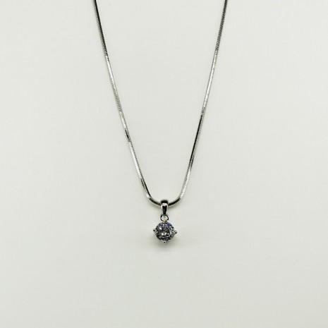 Cubic Circle Necklace