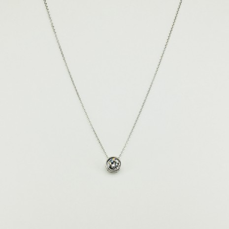 Small Circle Cubic Necklace