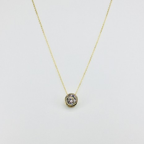 Circle Cubic Necklace