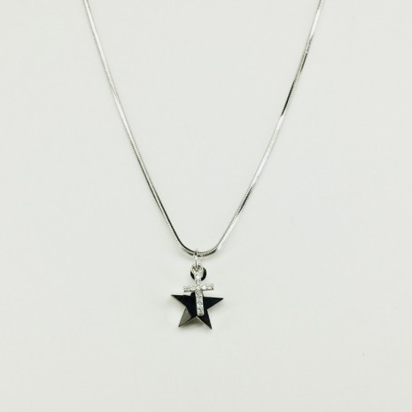 Star And Cross Cubic Necklace