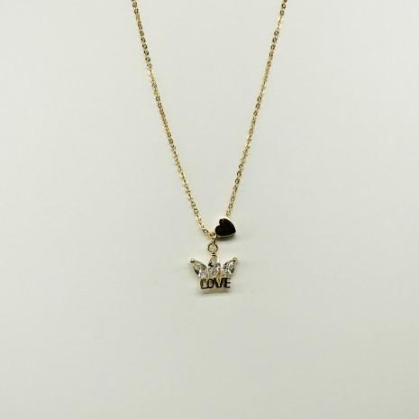 Cubic Crown Necklace
