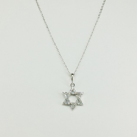 Star Of David Cubic Necklace