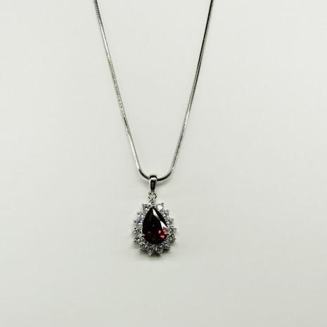 Teardrop Cubic Necklace