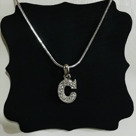 Small Size Initials C Necklace