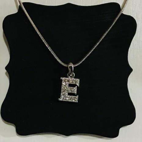 Small Size Initials E Necklace