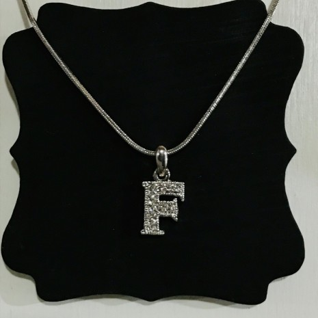 Small Size Initials F Necklace