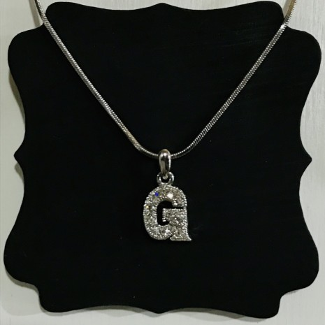 Small Size Initials G Necklace