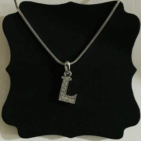 Small Size Initials L Necklace