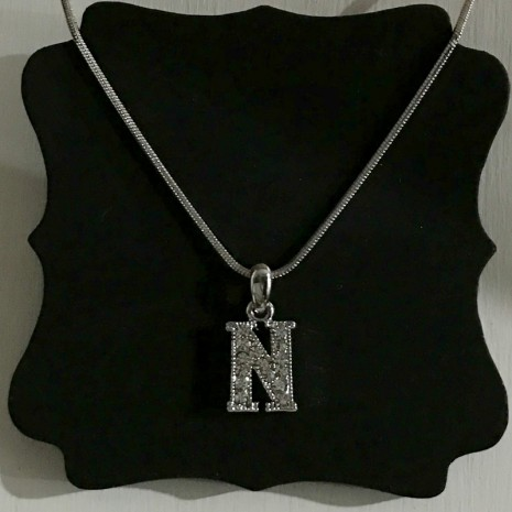 Small Size Initials N Necklace
