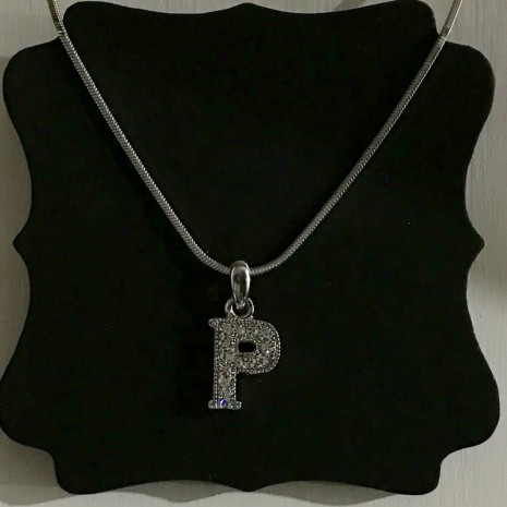 Small Size Initials P Necklace