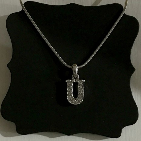 Small Size Initials U Necklace