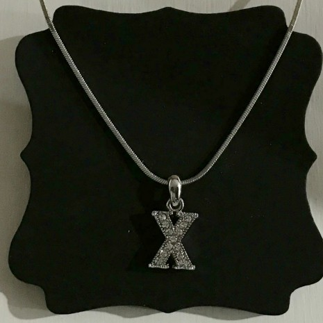 Small Size Initials X Necklace