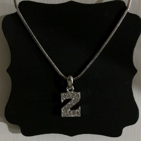 Small Size Initials Z Necklace