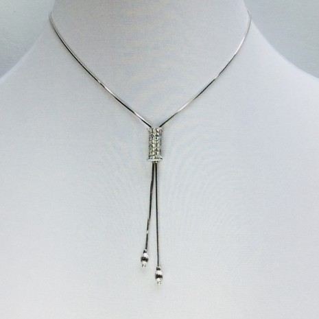 Initial I Slider Necklace