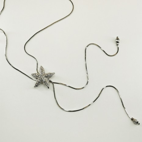 Starfish Slider Long Necklace