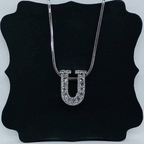 Initial U Necklace