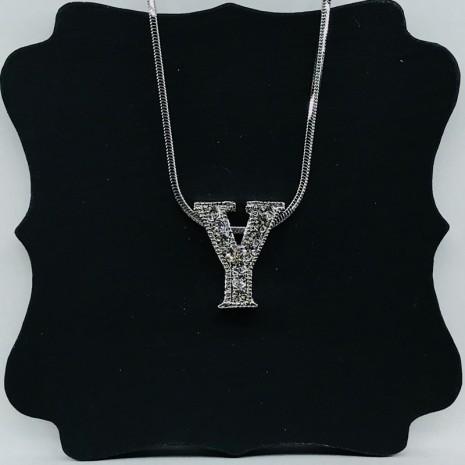 Initial Y Necklace
