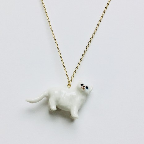 Cat Ceramic Necklace