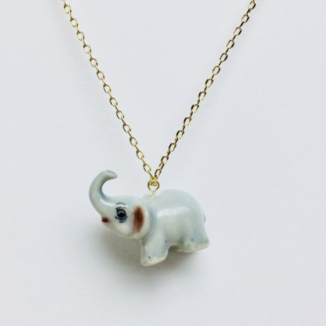 Elephant Ceramic Necklace