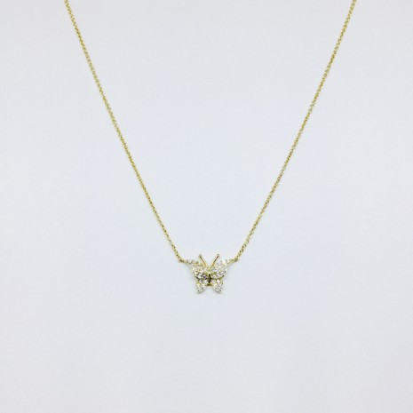 Butterfly Cubic Necklace