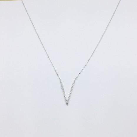 V Cubic Necklace