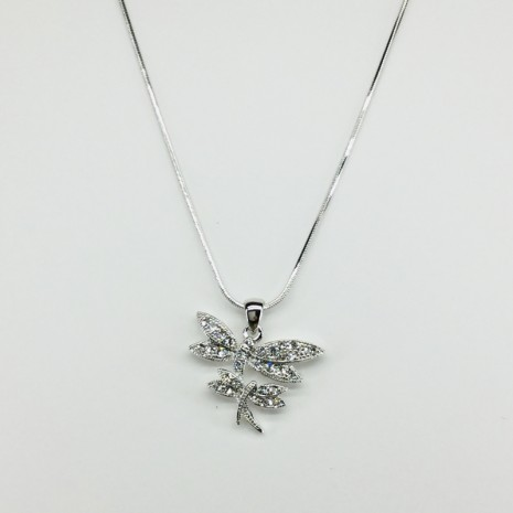 Double Dragonfly Necklace
