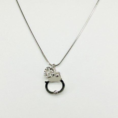 Heart And Handcuffs Necklace
