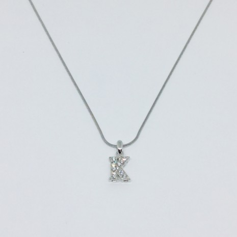 Small Size Initials K Necklace