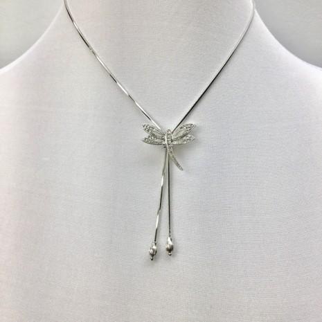 Dragonfly Slider Necklace