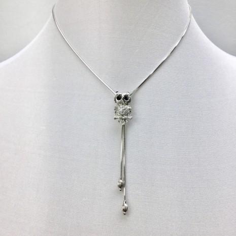 Owl Slider Necklace